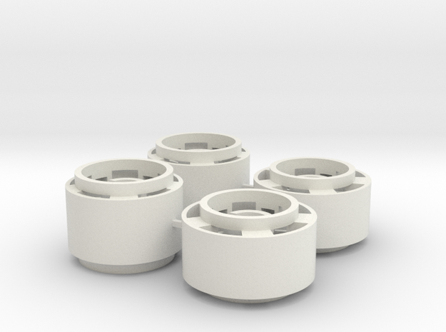 Mini-z F1 Wheelset for BRM rears -2.5mm original o in White Natural Versatile Plastic