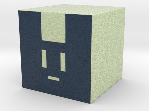 Noisy little cube cosplay prop in Full Color Sandstone