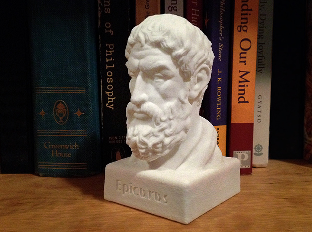 Epicurus Bust 4 inches
