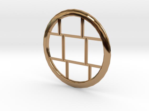Bricked pendant in Polished Brass