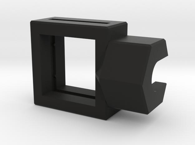 10mm Square Housing in Black Natural Versatile Plastic