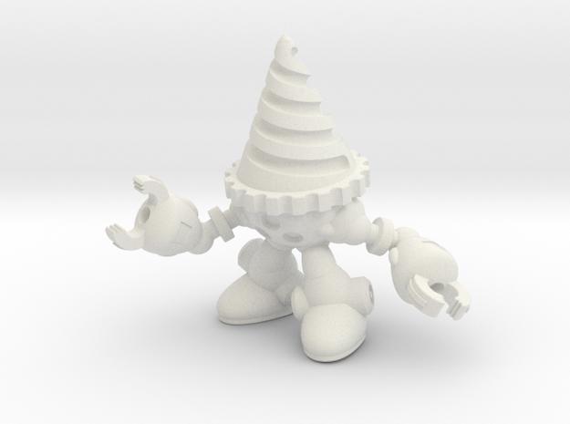 Drill-bot in White Natural Versatile Plastic