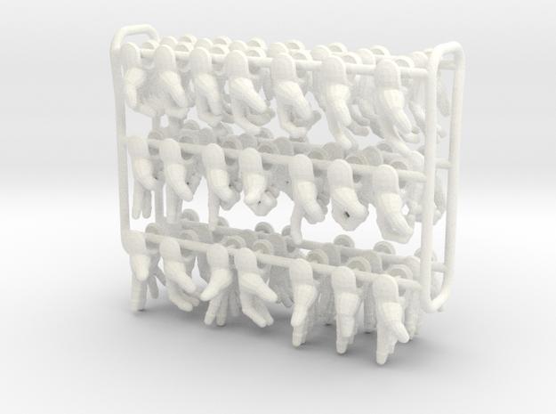 U-man extra hands in White Processed Versatile Plastic