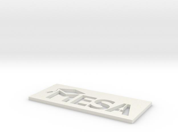 MESA Logo Stencil Medium in White Natural Versatile Plastic