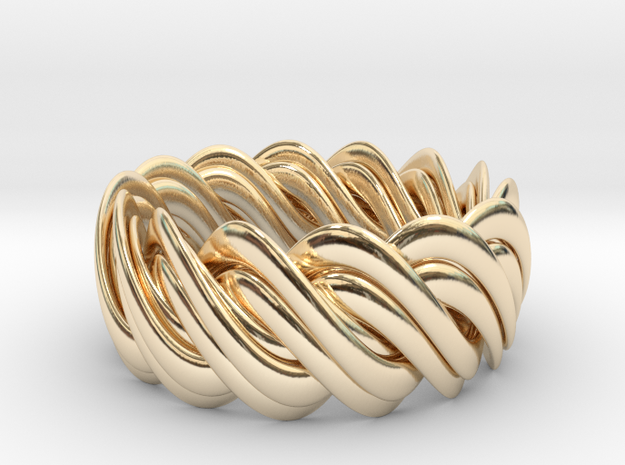 An Homage to Pi, The Ring in 14K Yellow Gold