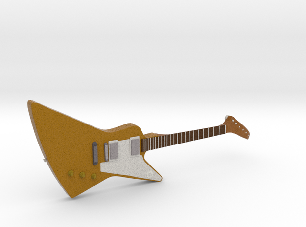 Gibson Explorer Guitar 1:18 in Full Color Sandstone