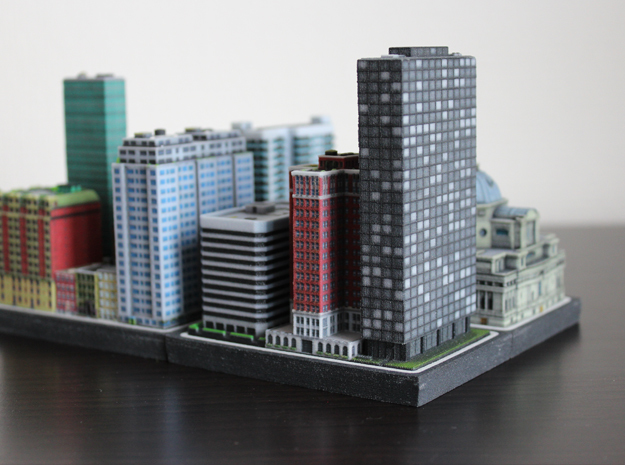 Chicago Set 1 Office Tower 2 x 4 in Full Color Sandstone