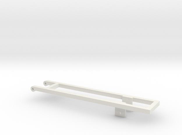 1/64 18' Mounting frame for truck in White Natural Versatile Plastic