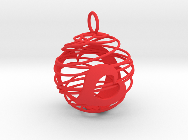Christmas Bauble 2 in Red Processed Versatile Plastic