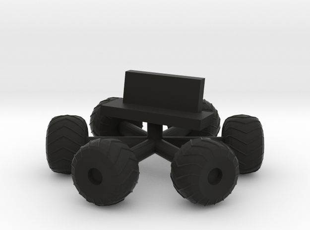Space 1999 Moonbuggy Wheels and Seats Dinky Scaled in Black Strong & Flexible