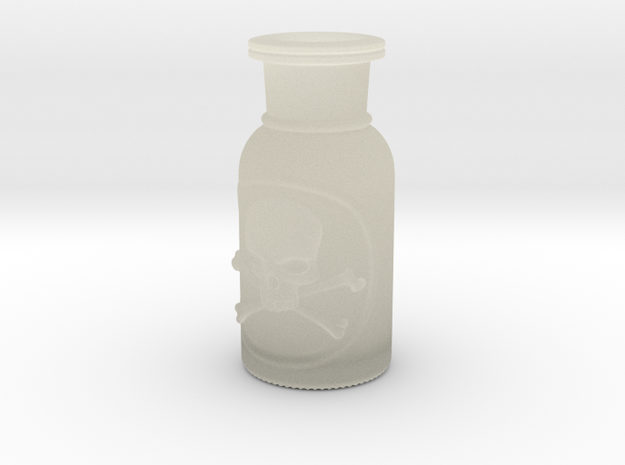 Skull and Crossbones Poison Bottle  in Transparent Acrylic