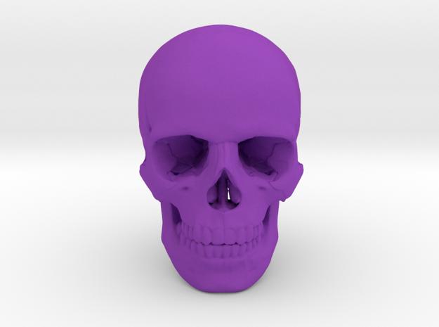 25mm 1in Human Skull Crane Schädel че́реп in Purple Processed Versatile Plastic