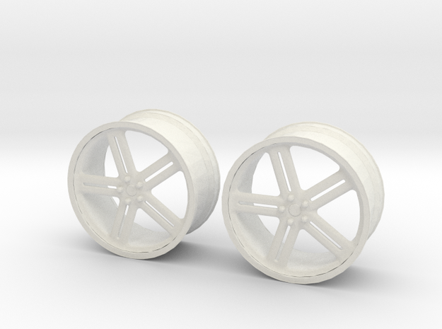 17 Inch Wheel in White Natural Versatile Plastic