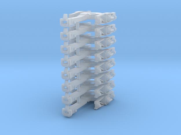 ZB (H0e) - 4P Drehgestelle für 4-ax Pw (Bosna) in Smooth Fine Detail Plastic