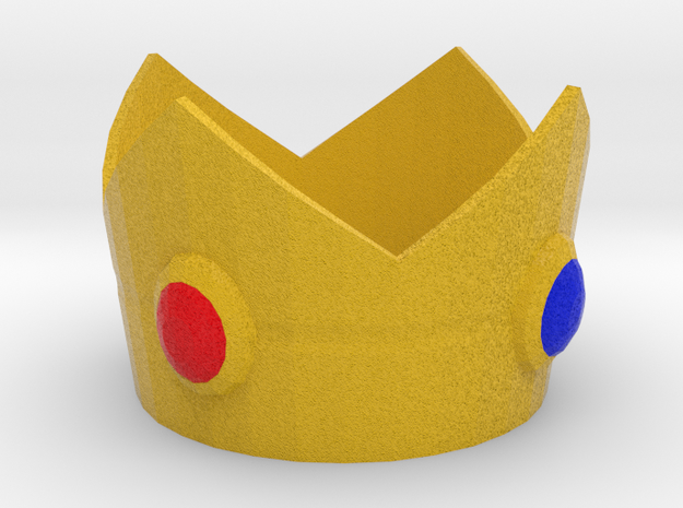 Princess Peach cosplay mini crown in Full Color Sandstone