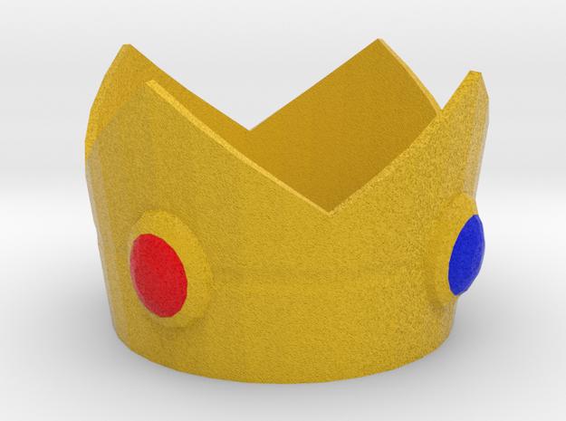 Princess Peach cosplay mini crown in Full Color Sandstone