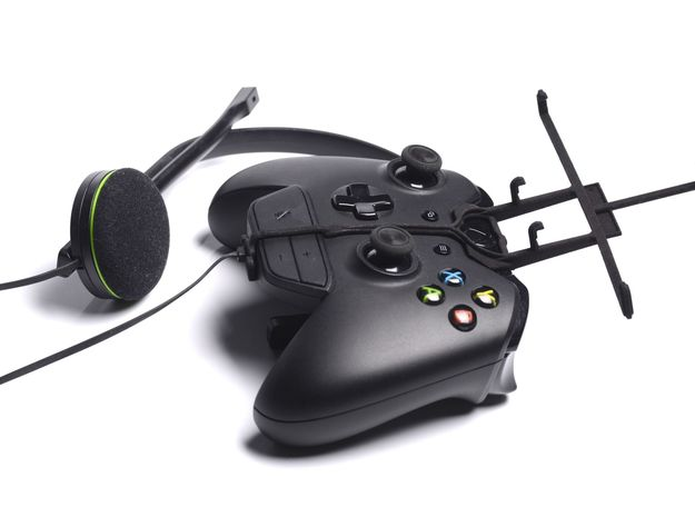 Xbox One controller & chat & Gigabyte GSmart Aku A 3d printed Without phone - A Samsung Galaxy S3 and a black Xbox One controller & chat