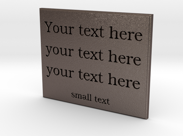 Your text here (steel) in Stainless Steel