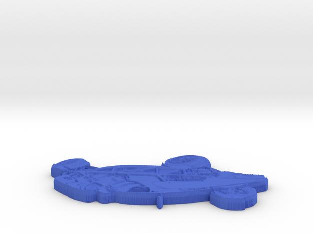 Atom Badge in Blue Processed Versatile Plastic