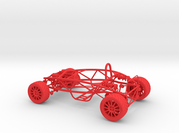 Ariel Atom 1/24th scale model w/tires 3d printed