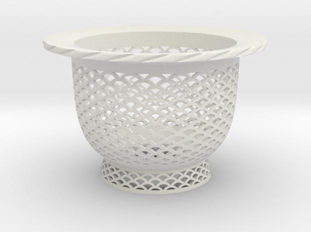 "Neo Pot - Model 2 - Size 3.5 (3.2"" ID) in White Natural Versatile Plastic"
