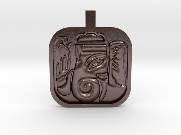 Ganesh Charm in Polished Bronze Steel