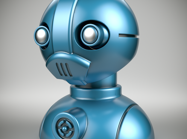 'Robust' robot bust design, model M7-001 in Full Color Sandstone