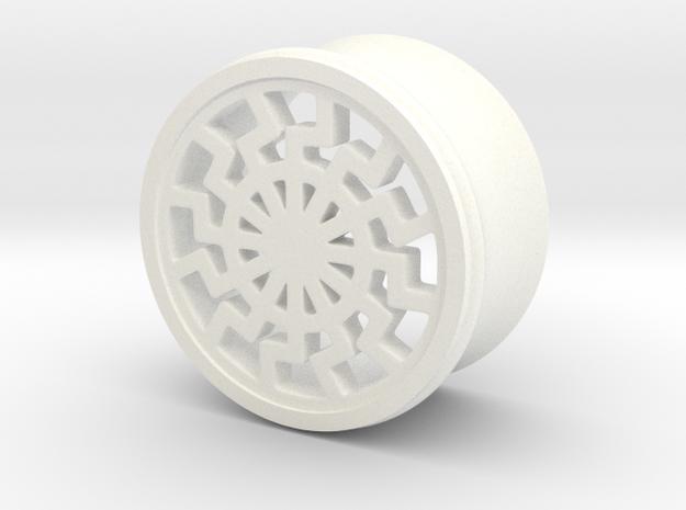 BLACKSUN 1 in White Processed Versatile Plastic