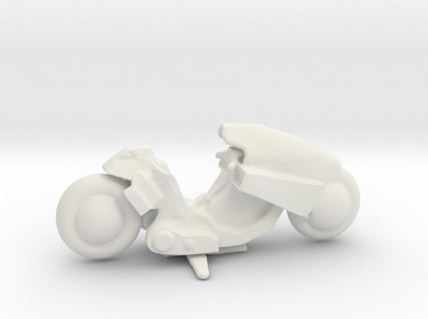 Kaneda's Bike in White Natural Versatile Plastic