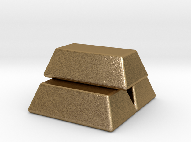 Stacked Gold Bars 3d printed