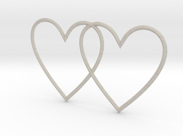 Hearts in Natural Sandstone