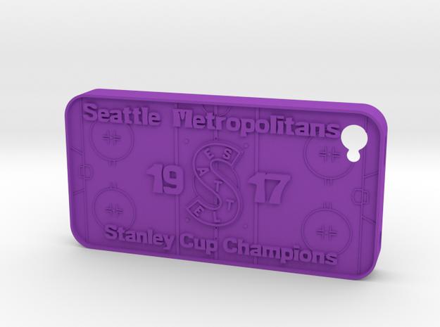 iPhone 4 Seattle Metros Hockey 3d printed