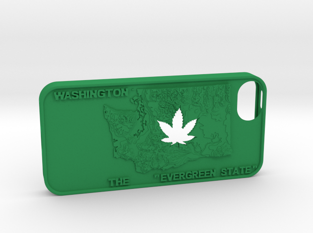 iPhone 5 Washington Marijuana Leaf 3d printed