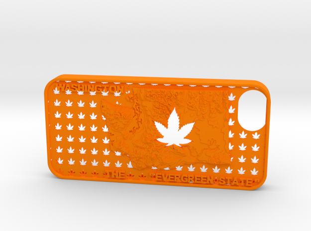 iPhone 5 Washington Marijuana Leaf 2 3d printed