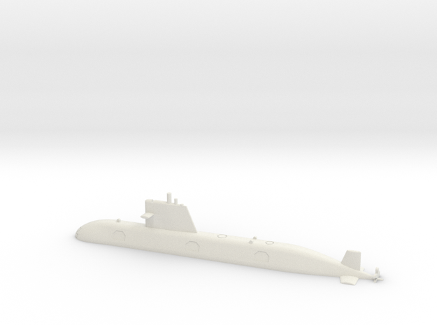 1/700 Scorpene-class submarine (Waterline) in White Natural Versatile Plastic