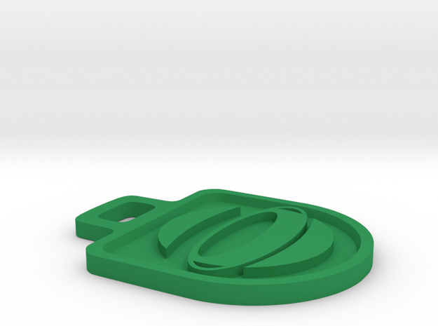 DBO Logo Zipper Tag - Large 3d printed