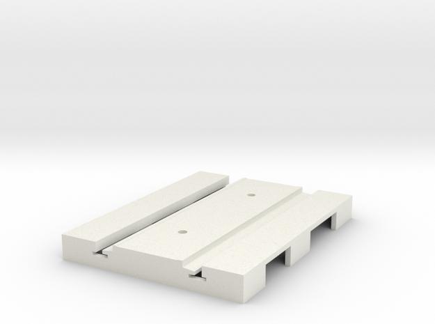P-165stp-short-straight-tram-track-100-pl-2a in White Natural Versatile Plastic