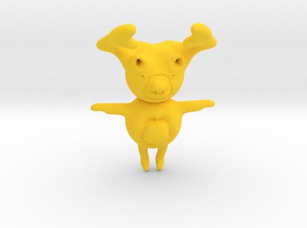 Moose in Yellow Processed Versatile Plastic