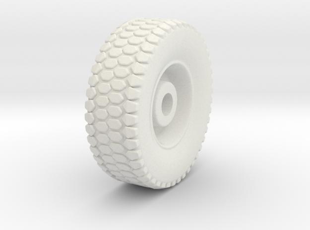 HO 1/87 MTVR Wheel in White Natural Versatile Plastic