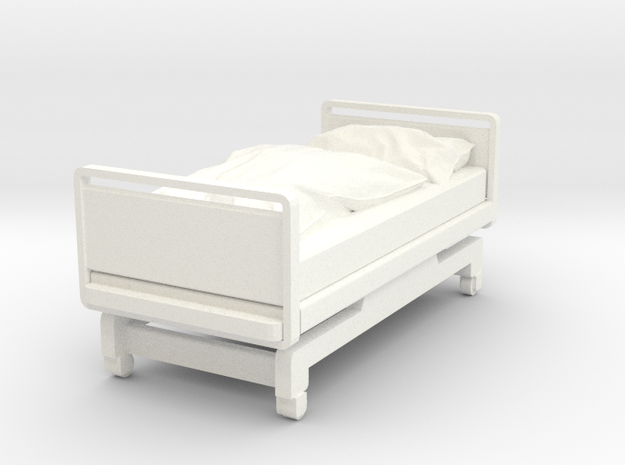 Hospital Bed in White Strong & Flexible Polished