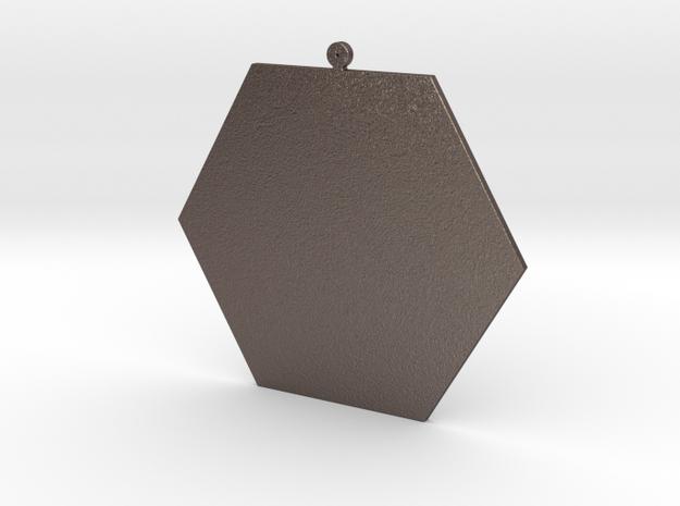 EYE Pendant in Polished Bronzed Silver Steel