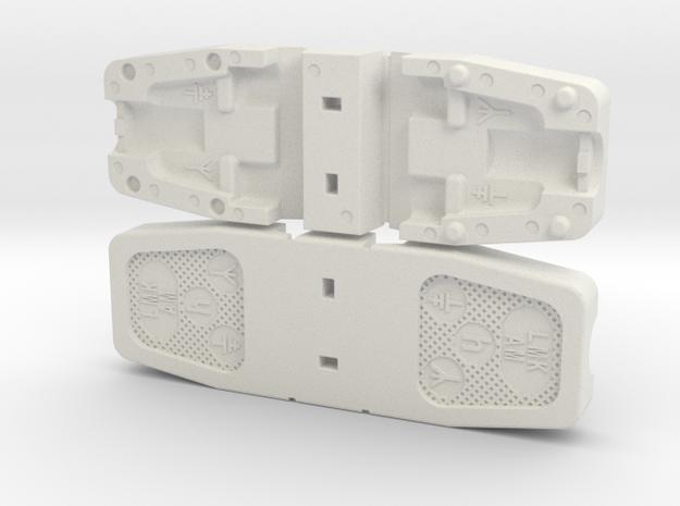 Replica LMK/AM Aerial Earth Plug in White Natural Versatile Plastic