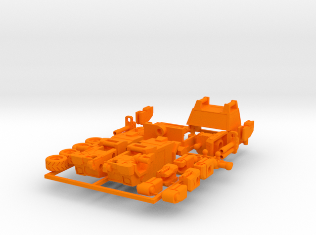 OUTLAND - transforming to robot from off load car 3d printed