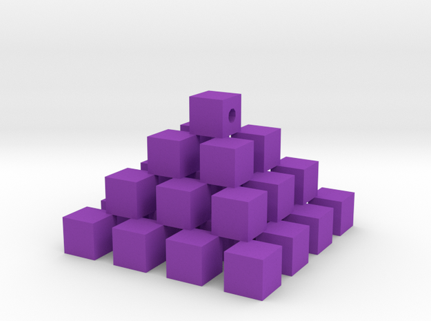 Cube piramid in Purple Processed Versatile Plastic