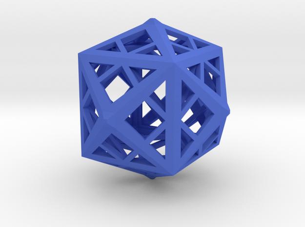 Cube frame in Blue Processed Versatile Plastic
