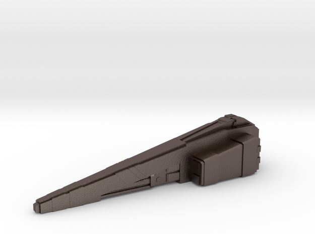 Custom board game piece - civilian transport in Stainless Steel
