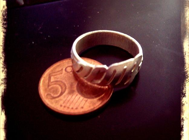 RING ACAB  3d printed printed in Sterling Silver