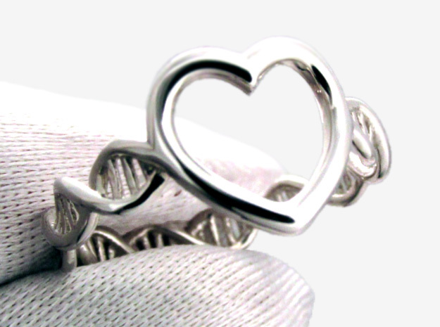 Heart DNA Ring