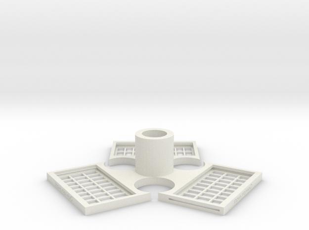 TriMagnetBase V2.0 in White Strong & Flexible