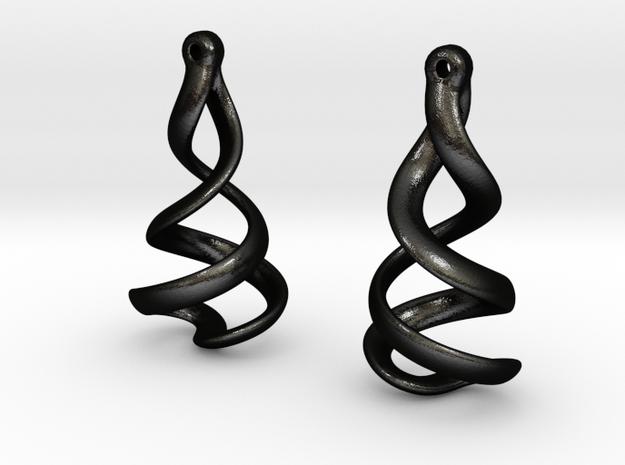 Helixial Elliptical Ear Rings 3d printed